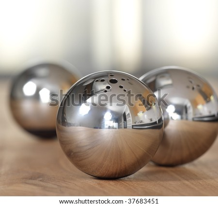 Metallic balls - stock photo