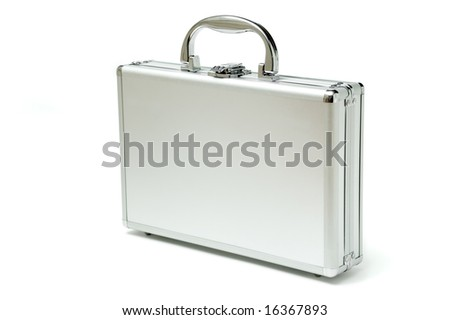 metallic briefcase, please check out my portfolio for more - stock photo