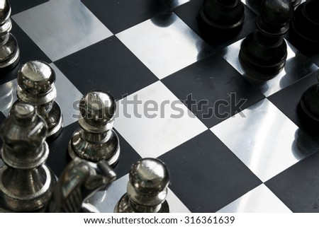 Metallic chess board