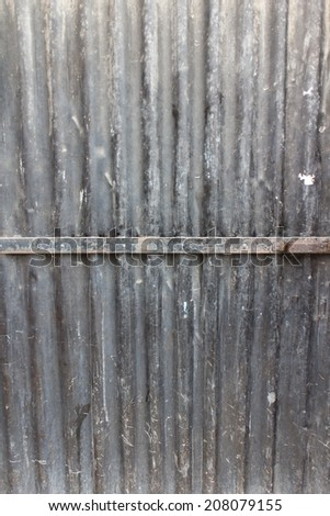 metallic corrugated door - stock photo