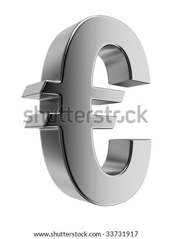 Metallic dollar sign. High resolution rendered in 3D. - stock photo