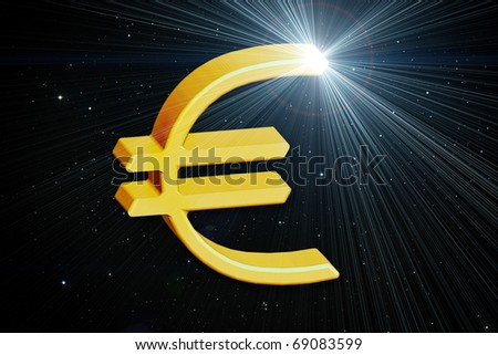 metallic euro on background