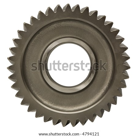 Metallic Gear - isolated on white