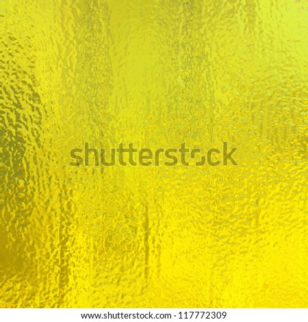 metallic gold background foil paper illustration for Christmas background wrapping paper design or golden anniversary announcement, vintage grunge background texture with glossy shine for web design - stock photo