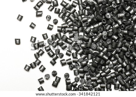metallic gray polymer on white background in lab