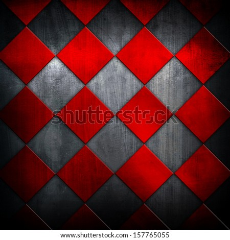 metallic grid pattern - stock photo