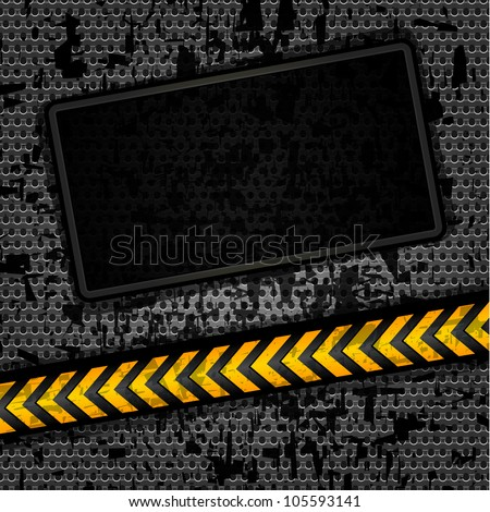 Metallic grunge background template, perforated iron sheet. Eps version also available in my portfolio - stock photo