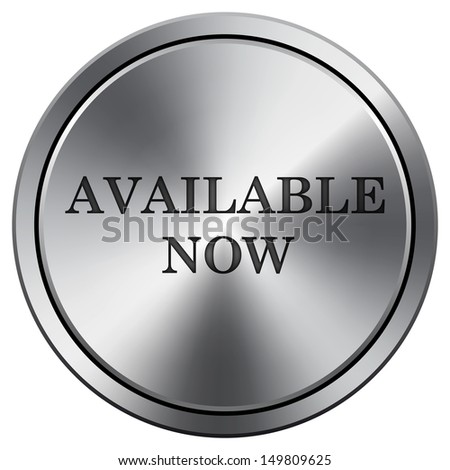 Metallic icon with carved design - stock photo