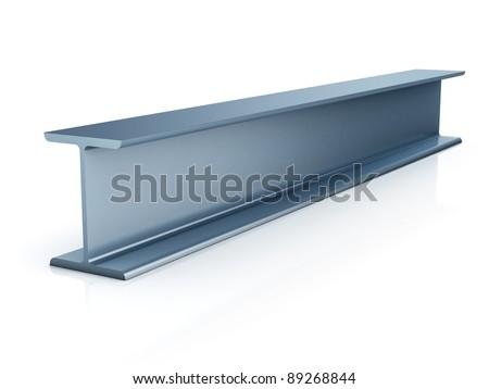 metallic joist isolated - stock photo