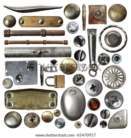 metallic object - stock photo