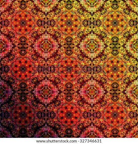 Metallic oriental pattern with ethnic traditional elements. Royal texture for textile, wallpapers, advertisement, page fill, book covers etc. Christmas background, colorful foil