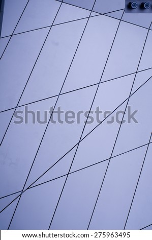 Metallic paneling - stock photo