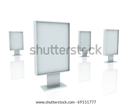 metallic panels - stock photo