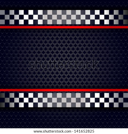 Metallic perforated sheet background for race. Vector version (eps) also available in gallery - stock photo