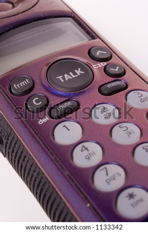 metallic purple wireless phone