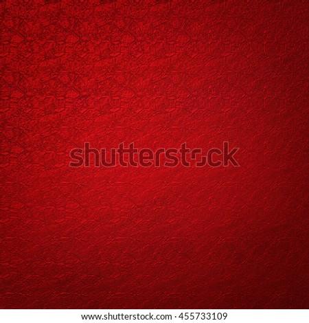 Metallic red elegant christmas background with pattern. - stock photo
