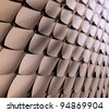 Metallic scales background - stock photo