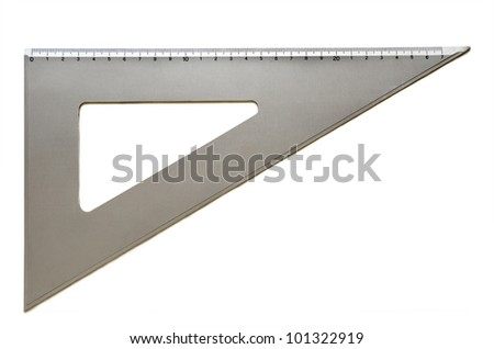 Metallic sixty degree square - stock photo