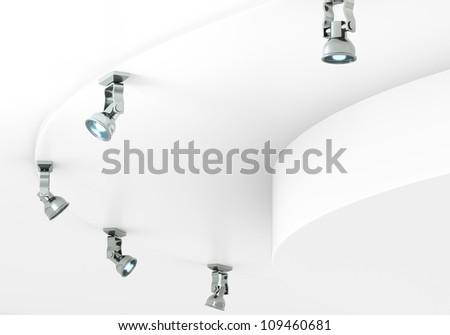 metallic spots - stock photo
