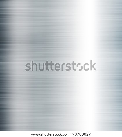 metallic steel background - stock photo