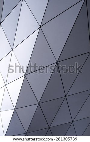 metallic tiles - stock photo