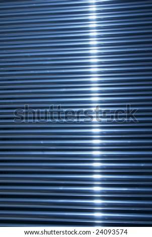 metallic tubes background - stock photo