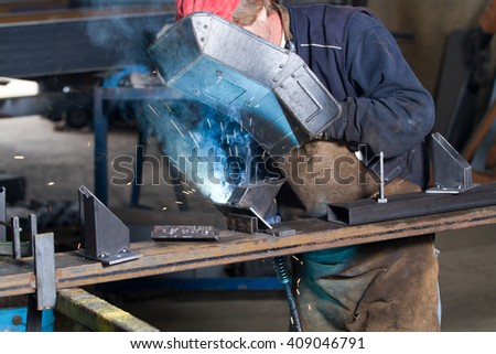 metalworker at work in his workshop