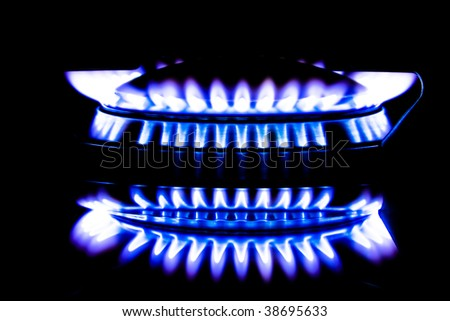 Metano flame - stock photo