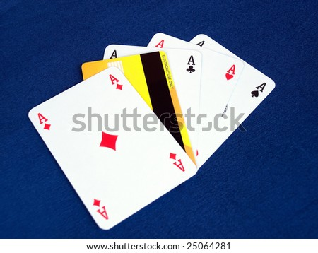 Metaphor about on line gambling or credit problem in the monetary policy. - stock photo