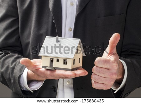 metaphor for positive building industry - stock photo