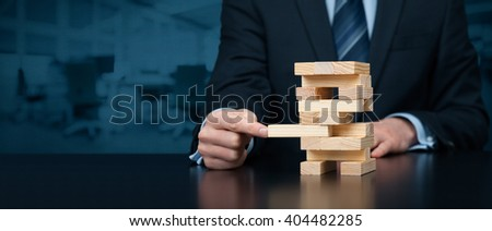 Metaphor of business solution, support, coaching, insurance, innovation and another helping business themes. Wide banner composition with office in background.