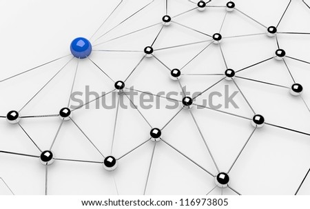 Metaphor of communication. Concept. 3d illustration - stock photo