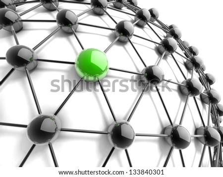 Metaphor of communication. 3d illustration. Concept. - stock photo