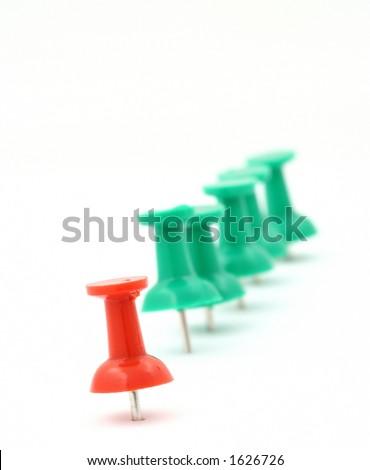 metaphor of group leader #2 - stock photo