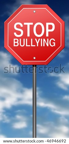 Metaphor Sign with Stop Bullying - stock photo