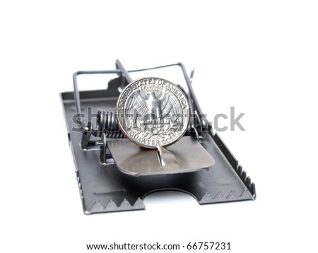 Metaphor which represents currency risk, in this case the currency is dollar. - stock photo
