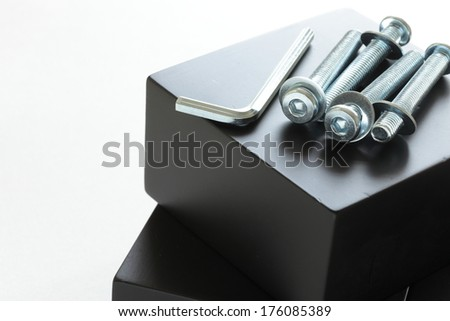 metel wrench and screw