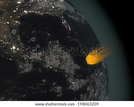 meteor - stock photo