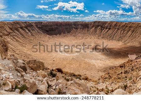 Meteor Crater, Arizona - stock photo