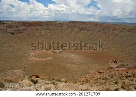 Meteor crater, USA - stock photo