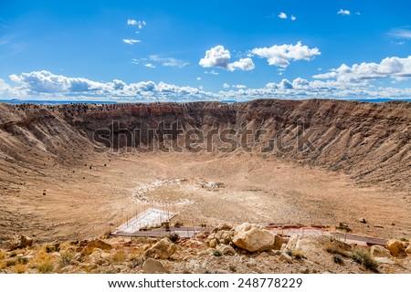 Meteor Crater view, Arizona, USA - stock photo