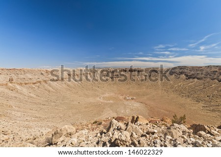 meteor impact crater Winslow Arizona USA - stock photo