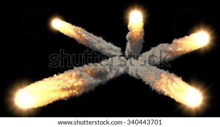meteor rain - stock photo