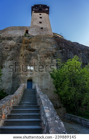Meteora. Gate from a monastery.  - stock photo
