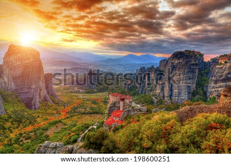Meteora,Greece  - stock photo