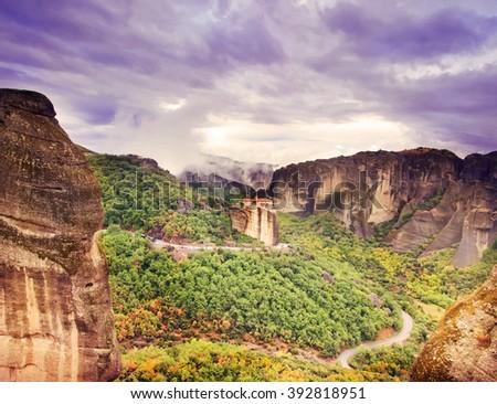 Meteora Greece - stock photo