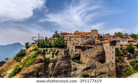 Meteora Monasteries, Greece. - stock photo