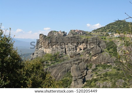 Meteora traditional Monastery settlement, Thessaly, Greece