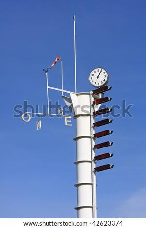 Meteorological weather-station (measurement equipment),Spain ,Barcelona - stock photo