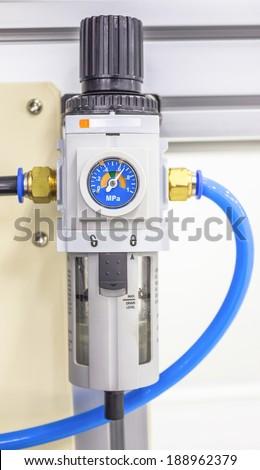 Meter Air Compressor - stock photo